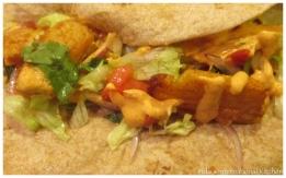 Fish tacos with a spicy harissa mayo