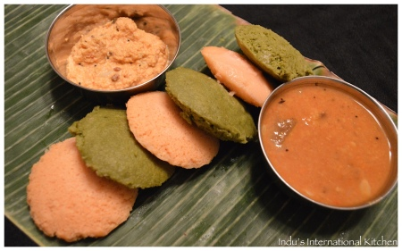 Carrot and Spinach Idlis