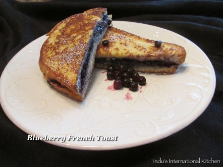 Blueberry french toast sandwich