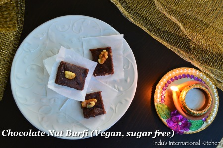 chocolate burfi (vegan)